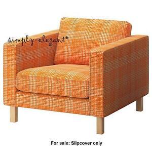 Ikea KARLSTAD Chair Cover Slipcover for Karlstad Armchair Hussie Orange 90254686