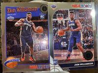 Zion Williamson NBA Hoops Rookie PREMIUM STOCK Lot Of 2 Rookies