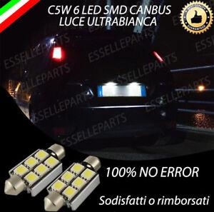 COPPIA LUCI TARGA 6 LED FORD FIESTA MK5 CANBUS 6000K BIANCO GHIACCIO