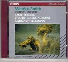 Maurice Andre Bach Purcell Vivaldi Albinoni Telemann West German Pressed Philips