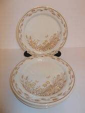 4 x English Ironstone Pictorial Design Side Tea Cake Sandwich Plates - Lovely