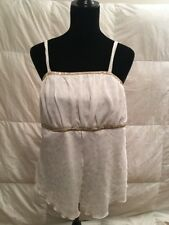 Torrid Ivory Gold Sequined Spaghetti Strap Babydoll Top Plus Size 1
