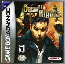 GBA Dead to Rights (2004), Nintendo Of America, Brand New & Factory Sealed