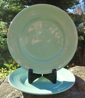 2 x Vintage Woods Ware Green Beryl Starter Plates - Good Used Condition / Spares