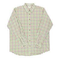 "Viyella Men XL 52"" Long Sleeve Button Wool Cotton Shirt Plaid Canada Cream Red"