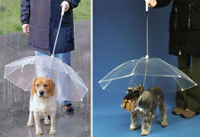 "Transparent Dog Umbrella for Dogs (28"" Diameter and Handle Length of 26"")"