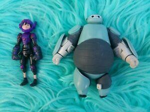 "Big Hero 6 Baymax Hiro Action PVC Figure Toys Disney Lot 4"""
