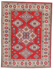 5x7 Hand-Knotted Kazak Carpet Tribal Red Fine Wool Area Rug D57145