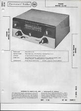 1958 PHOTOFACT Fisher Audio Amplifier Model CA-40 Manual #510