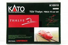 N-Scale KATO K10910 TGV Thalys PBKA 10 Car Set with Display UNITRACK VERY RARE!!