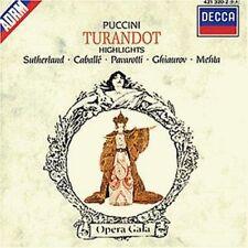 Puccini TURANDOT-Highlights (Decca, 1974) [CD ALBUM]