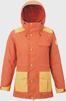 BURTON Women's RUNESTONE Snow Jacket - Persimmon/Ochre - Small - NWT