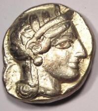 Ancient Athens Greece Athena Owl Tetradrachm Coin (454-404 BC) - VF/XF Condition