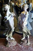 Antique Austrian Art Nouveau Porcelain Figurine Couple.