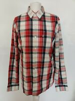 Levi's Levis Men's Shirt Red Check Long Sleeve Button Down Country Casual Size M