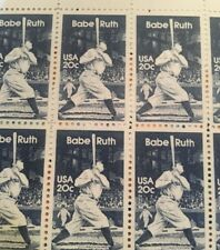 10 Vintage Babe Ruth stamps- Baseball mail -perfect For A Yankee's Fan