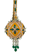 The Cracker Box Inc Christmas Ornament Kit Southwest on Yellow with Emerald acc