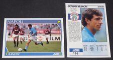 186 FRANCINI NAPLES NAPOLI FOOTBALL CARD 92 1991-1992 CALCIO ITALIA SERIE A