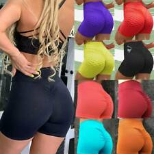 Womens Push Up Yoga Shorts Sports Scrunch Hot Pants Booty Gym Fitness Briefs UK