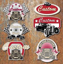 CUSTOM HOT ROD STICKER SET Large Vintage Retro Car Classic Rat  Toolbox Decal