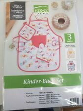 HOME IDEAS 3-teiliges Kinder-Back-Set in Orange NEU & OVP