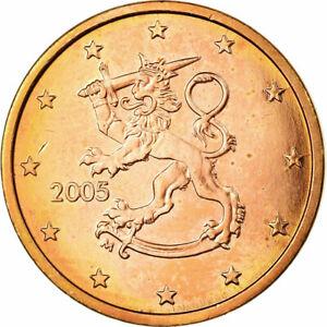 [#698630] Finlande, 5 Euro Cent, 2005, SPL, Copper Plated Steel, KM:100