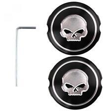Achscover Skull Harley Davidson Softail, Dyna, Sportster, V-Rod, Tourer CNC