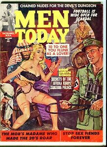 MEN TODAY  Oct. 1961  VG/F Nazi whipping cover. Men's adventure magazine pulp