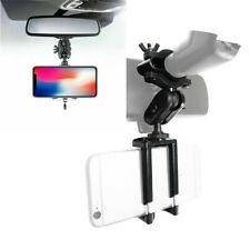 Universal Car Rearview Mirror Mount Stand Mobile Phone GPS Holder Bracket Black