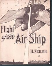 Flight of the Air Ship 1908 Large Format Sheet Music