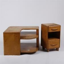 Heywood Wakefield 2pc. set; corner and bedside table. Lot 155