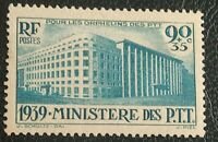 FRANCE TIMBRE ORPHELINS DES P.T.T N° 424 NEUF** 1939 / STAMP