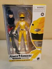 Power Rangers Lighting Figure Mighty Morphin Yellow Ranger MISSING KNIFE OPEN BX