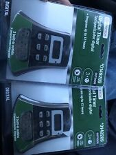Two Utilitech Photocell Timer Outdoor 3 Outlet Digital-#0149289 Sealed New Gift