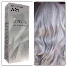 Berina A21 Light Grey Silver Color Permanent Hair Color Cream Unisex Hair Dye
