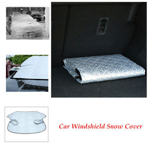 1pcs Car Silver Winter Snow Ice Rain Windshield Cover Sun Shade Protector Frost