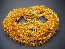 Lot -10 Genuine Baltic Amber Baby Necklace Honey Color 12.20 - 13.00 inches
