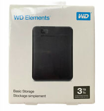 WD 3TB Elements Portable External Hard Drive - USB 3.0 - WDBU6Y0030BBK-WESN