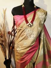 Women's Special Wear Indian Wear Designer Sari Jute silk Bollywood Sari I 13-3