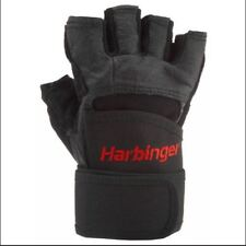 Harbinger Pro Wrist Wrap Weight leather lifting Gloves for gym fitness training