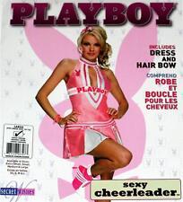 PLAYBOY BUNNY Sexy Exotic Licensed CHEERLEADER POM POM GIRL COSTUME Womens L New