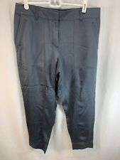 NEW Loft Pants Womens 8 Petite Viscose Grayish Blue Shiny Silky Jogger