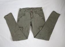 J Brand Houlihan 1229 Vintage Taupe Skinny Cargo Jeans Size 25