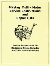 Maytag MultiMotor Service Book 72 twin Parts Gas Engine Model Hit Miss Serial #