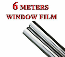 6m x 50cm SILVER CAR VAN HOME WINDOW DV FILM TINTING SHADE KIT MIRROR EFFECT KL