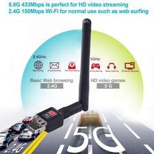 300Mbps 2.4Ghz Wireless USB WiFi Network Adapter w/Antenna 802.11N $-$