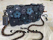 Coach 1941 Tea Rose Dinky Crossbody handbag In Midnight Navy 38197 $595