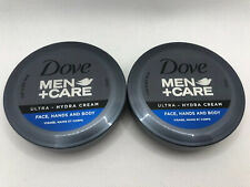 Lot of 2 Dove MEN CARE Ultra Face Hands & Body Hydrating Cream 2.53 oz