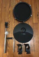 """Alesis 10"""" Cymbal w/15"""" Arm, Tom Pad & 1.5"""" Clamps NEW Nitro Drum Single Zone"""