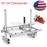 "Portable Chain saw Mill log Planking lumber cutting 16"" - 24"" Chainsaw Guide Bar"